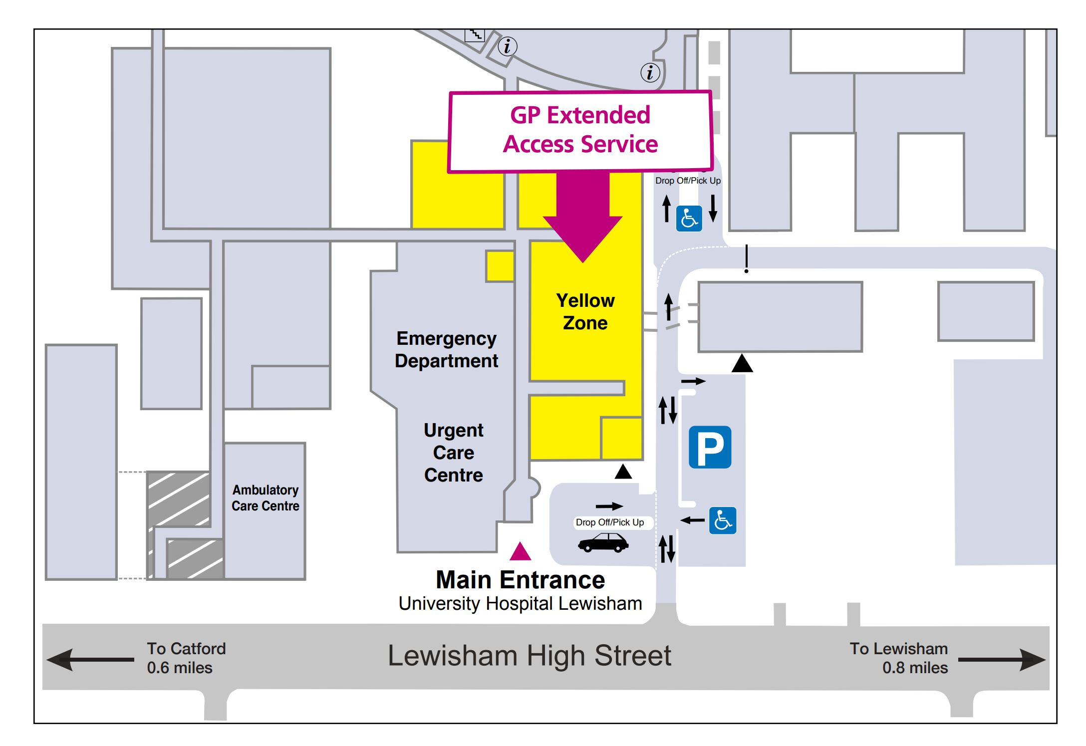 Lewisham Hospital Map MAP   One Health Lewisham Lewisham Hospital Map