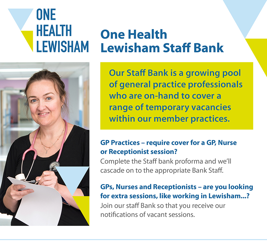 One Health Lewisham Staff Bank email version v5b