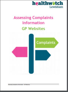 Healthwatch report cover